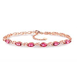 Rose Gold Genuine Diamond Tourmaline Bracelet