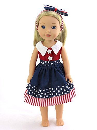 """Yellow Dress Shoes Fits 14.5/"""" Wellie Wisher American Girl Doll Shoes"""