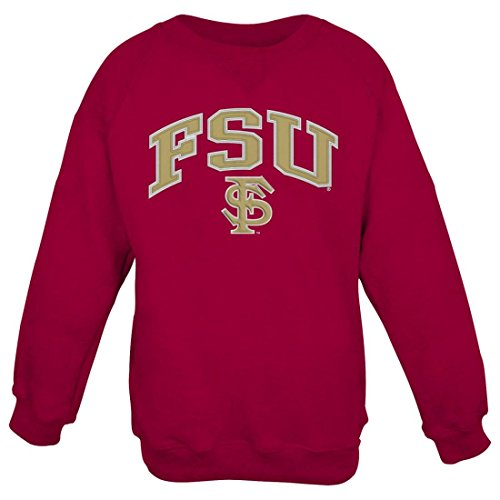 College Embroidered Crew Fleece Sweatshirt - 6
