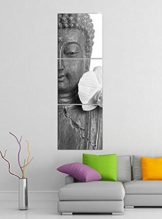 Asiatische Bilder Auf Leinwand amazon de leinwandbild 3tlg buddha statur lilien blüte asien