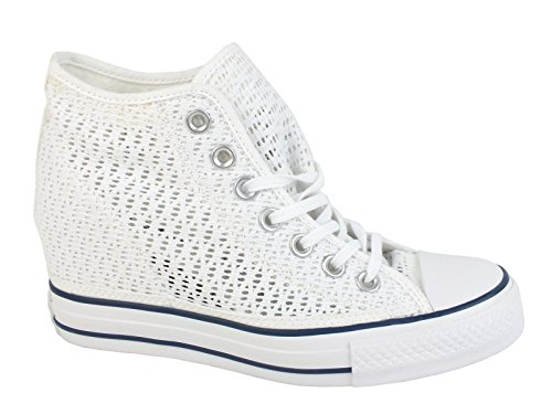 All Star Mid Lux Tiny Crochet Femmes Blanc - Blanc