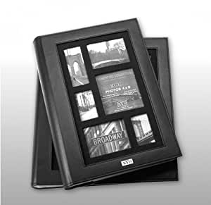 """Kleer-vu Photo Frameworx Collection-3up Album, Suedeleather, Holds 300 4x6"""" Photos, 3 Per Page. Color: Black."""