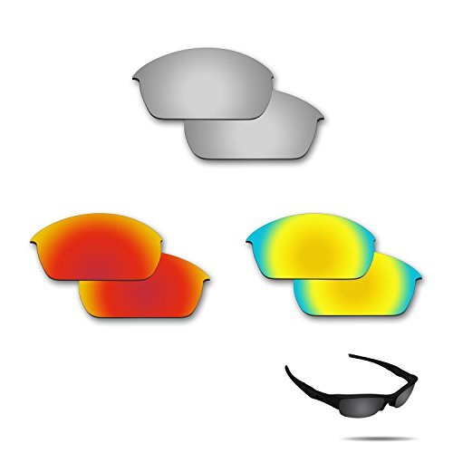 (Fiskr Anti-Saltwater Polarized Replacement Lenses for Oakley Fuel Cell Sunglasses 3 Pair Pack)