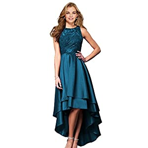 df559a99368 Lily Wedding Womens Halter High Low Prom Dresses 2018 Long Formal Evening  Ball Gowns D76 Teal Plus Size 18