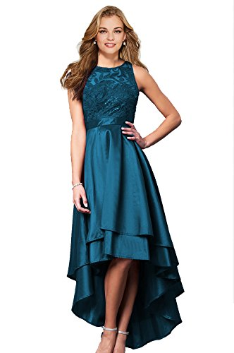 28c88b6c53 ... Womens Halter High Low Prom Dresses 2018 Long Formal Evening Ball Gowns  D76 Teal Plus Size 18.   
