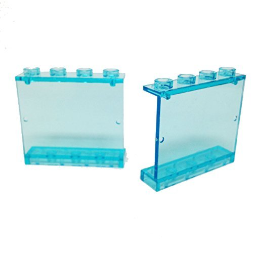 Lego-Parts-Panel-1-x-4-x-3-Hollow-Studs-PACK-of-2-Transparent-Light-Blue