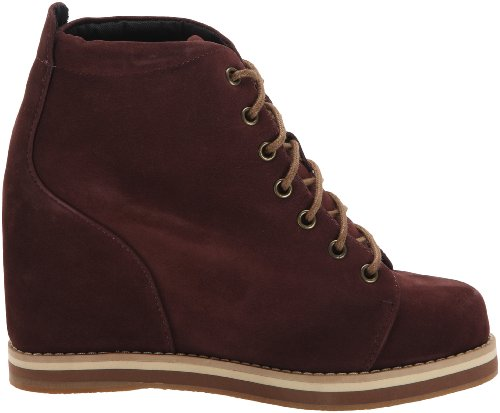 WoMen Wish Red Boots Nubuck Burgundy Rouge Desert Rot Boot qrfRpcTr4E