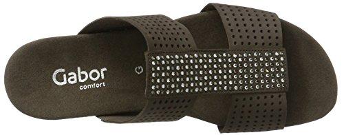 Gabor Ladies Comfort Open Sandals Brown (fumo 31)
