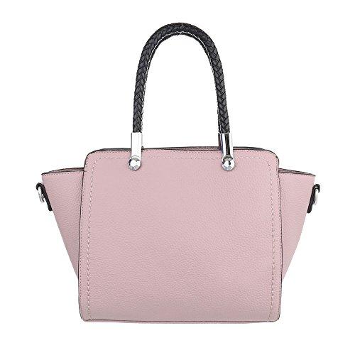 Schuhcity24 Taschen Handtasche Altrosa m5v9AR