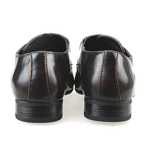 e2f6564325eb MM ONE Mens Oxford Dress Shoes Side Lace up Plain toe Big size KingSize  Black