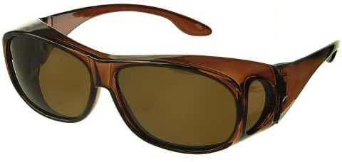 LensCovers Sunglasses Wear Over Prescription Glasses. Polarized Size Medium.