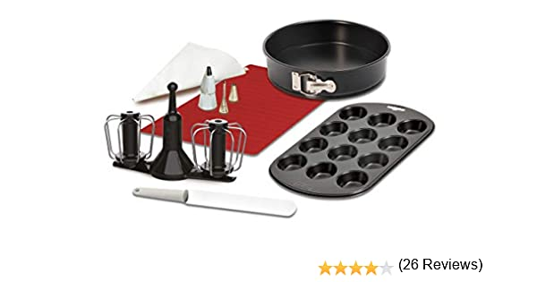 Krups XF5560 Prep&Cook Set de accesorios, negro/blanco/rojo: Amazon.es: Hogar