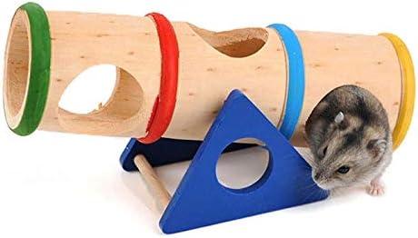 HZGペットは木製の多孔質デザインハムスターレインボー上向きバレルペットのおもちゃを供給します 楽しいファッション
