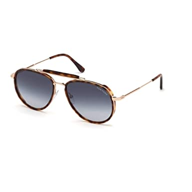 Sunglasses Tom Ford FT 0666 Tripp 54W red havana/gradient blue