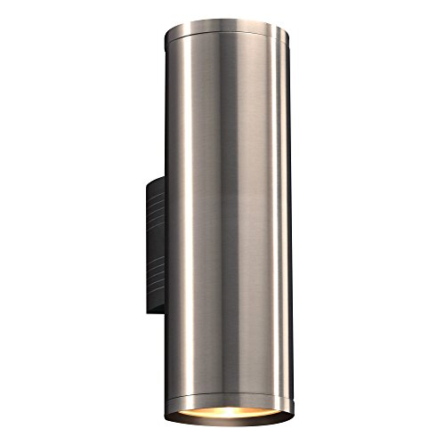 PLC Lighting 2094BA 1-Light Takato Collection Outdoor Fixture, Brushed Aluminum