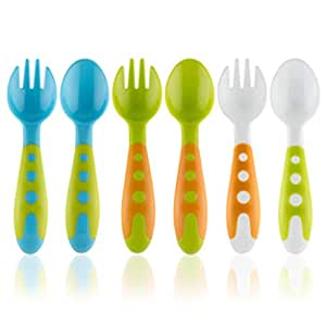 Pink Spoon /& Fork by Aloonii Silicone Mini Feeding Baby Utensils//Cutlery