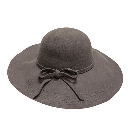 City Hunter Fw6 Women High End Wool Floppy Hat 5 Colors (Gray)