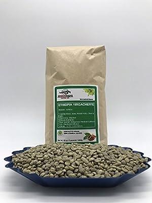 5 LBS – ETHIOPIA YIRGACHEFFE (in FREE BURLAP BAG) FRESH NEW-CROP Specialty-Grade Green Unroasted Coffee Beans- AFRICA – Varietal: Ethiopian Heirloom – Considered Finest of Ethiopian Coffees