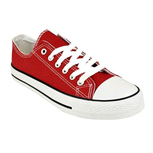para Zapatillas Genesis Lona de mujer Rojo tBnqw0vR