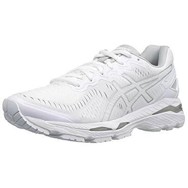 Asics Gel-Kayano 23 Women's Running Shoe (White / Snow / Silver)