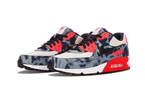 Nike Mens Air Max 90Washed Denim Blue White Infrared Trainer