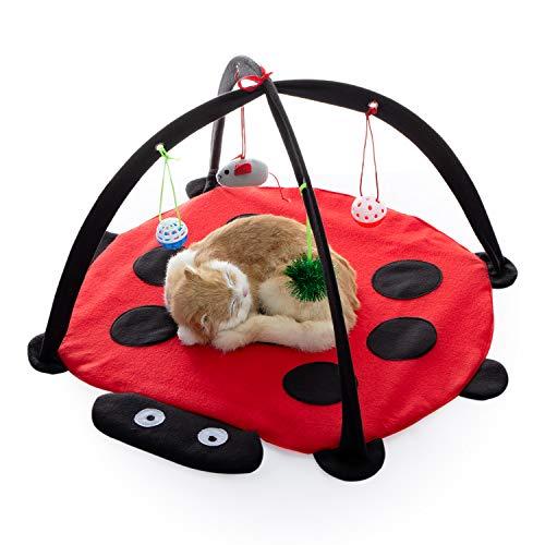 Tofern Katzenbett Katzenzelt Katzenkissen Tierbett Katzenspielzeug faltbar waschbar