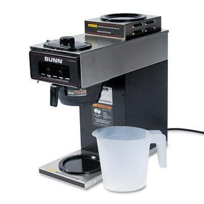 2 Warmer Auto Brewer - BUNVP172BLK - 12-Cup Two-Station Commercial Pour-O-Matic Coffee Brewer