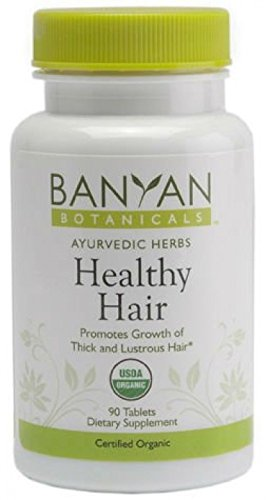 Banyan Botanicals Healthy Hair; 90 Tablets; Certified Organic; Strength Growth