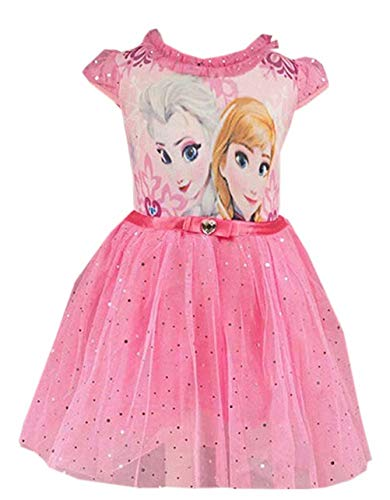 Little Teeth Girls Toddler Elsa Princess Cosplay Costume Mesh Tutu Dress Pink 150