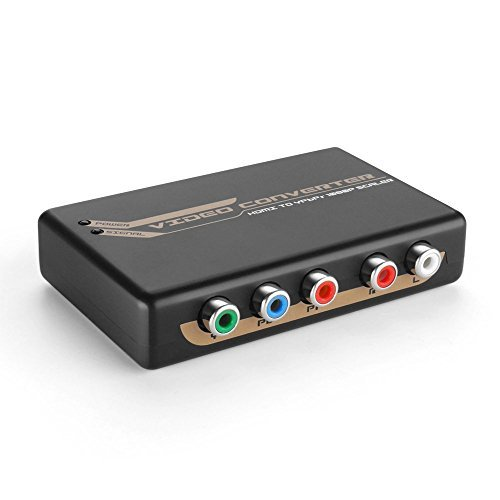 Apple Component Tv - TNP HDMI to RCA Component 5RCA RGB YPbPr Converter Box Adapter - Digital to Analog 1080P 720P Video Audio to Stereo R/L for TV, Bluray, PS4, PS3, Xbox One, 360, Slingbox, Apple TV, Roku