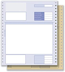 Communisis Sage Compatible Invoice 2 Part NCR Paper with Tinted ...