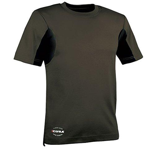 Cofra V081-0-03.Z/6 Arbeits T-Shirt Guadalupa, Schlamm Grau / Schwarz, XXL