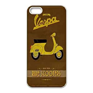 New Fashion iPhone 5,5G,5S Case, Vintage Vespa quote Custom Phone Case