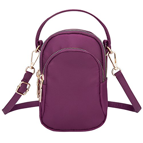 for Shoulder Purse Women Straps Cell Crossbody Women's Small Bthdhk Crossbody Purple Wallet 2 With Bag Phone FqROP4f0