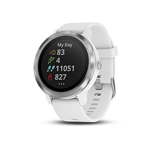 Garmin vívoactive 3 GPS Smartwatch - White & Stainless (Renewed)]()