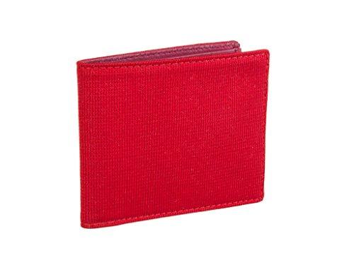 usa Y Seda Punto Rojo Monocolor Piel Cartera De 40 Colori qxgBTOwg8