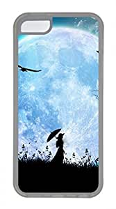 iPhone 5c case, Cute Girl Of The Moonlight iPhone 5c Cover, iPhone 5c Cases, Soft Clear iPhone 5c Covers