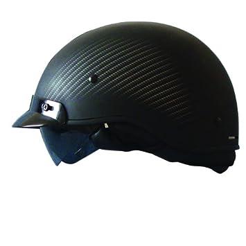 Zoan ruta 66 carbono gráfico motocicleta ridign mitad casco – negro/plata – XL