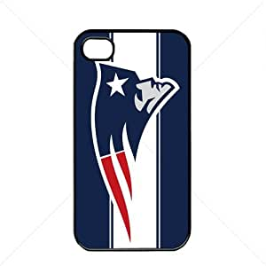 NFL American football New England Patriots Apple iPhone 4 / 4s TPU Soft Black or White case (Black)