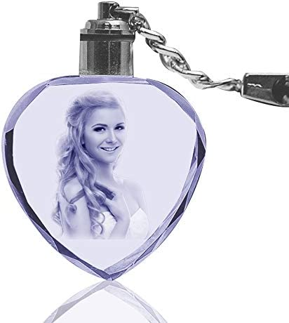 Wedding Gift Unique Gift Ideas LED Lighted Personalised Crystal Keyring