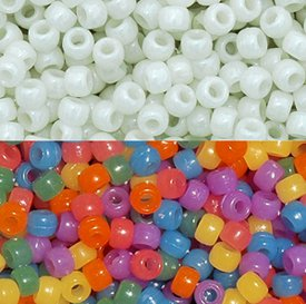 JOLLY STORE Crafts UV Sensitive Color Changing 9x6mm Pony Beads, 500pcs