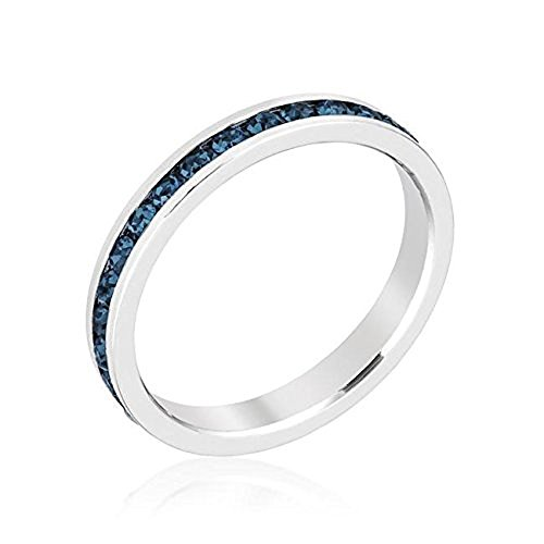 WildKlass Stylish Stackables with Montana Blue Crystal Ring