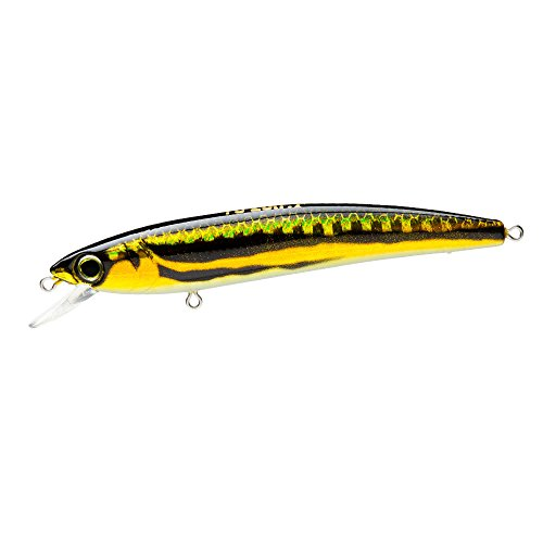 Yo-Zuri F1163-M37 Pins Minnow Floating Diver Lure, Gold Flame