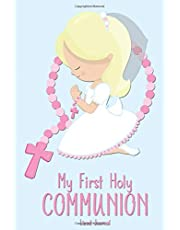 My First Holy Communion Lined Journal: Blonde Girl