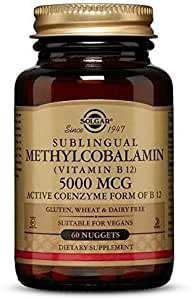 Vitamina B12 Sublingual Vegana 5000 Mcg Metilcobalamina