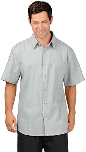 Men/'s Summer New Style Cotton Hemp Pocket Button Lapel Short Sleeve T Shirt Tops