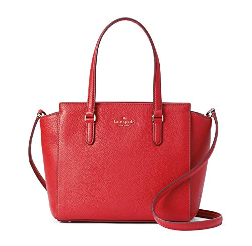 Kate Spade Jackson Women's Medium Satchel Leather Crossbody Bag Purse Handbag (Hot Chili)