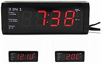 Haoyishang Wf 518 3 In 1 Digital Led Auto Thermometer Spannung Taktgeber Für 12v 24v Auto