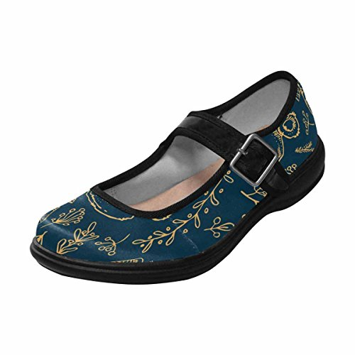 Interestprint Femmes Confort Mary Jane Appartements Casual Chaussures De Marche Multi 1