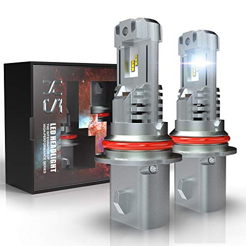 9004 HB1 LED Headlight Bulbs, CAR ROVER 55W 10000LM PLUG-N-PLAY Extremely Bright 6500K ZES Chips Hi/Lo Beam Conversion Kit